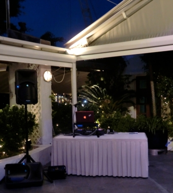 Corner set up, Royal Hong Kong Yacht Club lawn