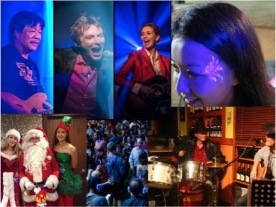 blues rock bands, latin jazz bands, actors, face and body painting, silent disco