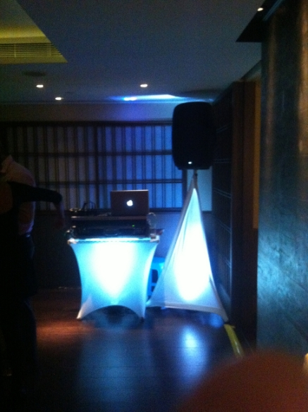 Booth and rear lighting to compliment the occasion and venue
