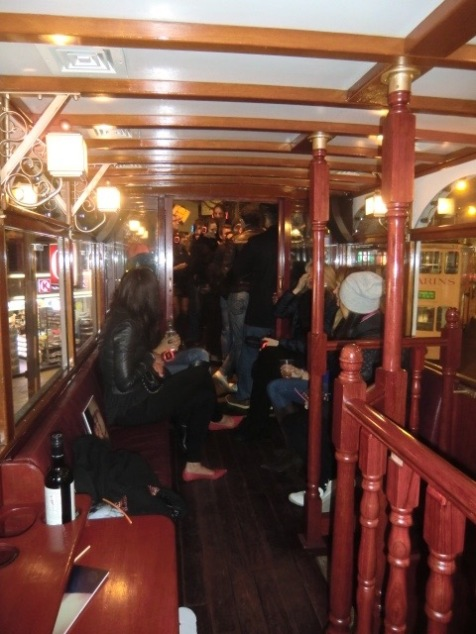 Silent disco party on board one of Hong Kong's antique trams