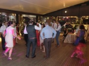 Wedding party at the Peninsula Hotel Patio
