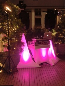 Party package with pink theme