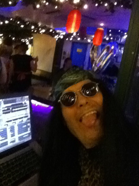 80s rawk! Theme night, at Le Jardin. Ozzy behind the decks