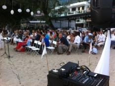 Beach wedding ceremony at The Beach House, Cheung Sha, Lantau