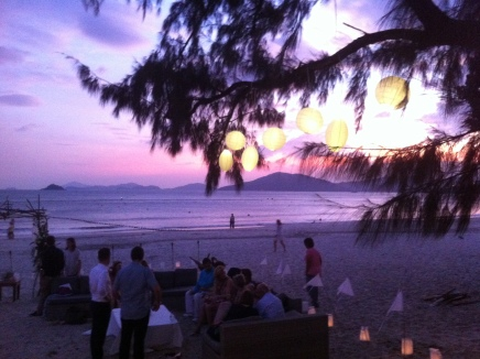 Not every day you get to do a party with such a dramatic setting. The Beach House, Cheung Sha, Lantau.