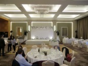 Banquet Party Package set out at the American Club Vista ballroom