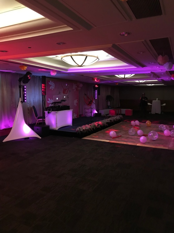 All set up and ready to go for a bat mitzvah